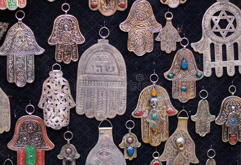 Palm gevormde amulettenhand van Fatima royalty-vrije stock foto's