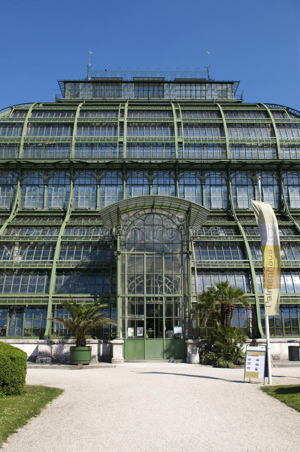 Palm House In Landscape Park Of Schonbrunn Royalty Free Stock Photos