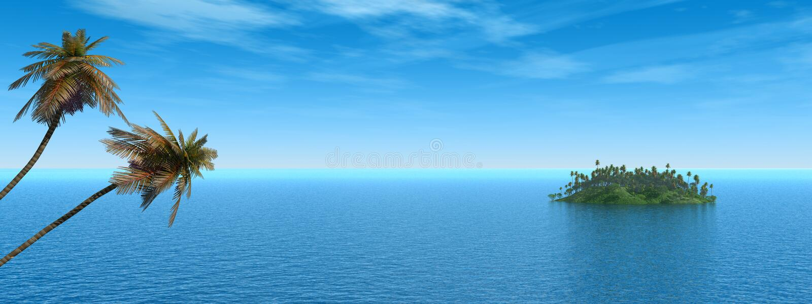 Download Palm Island stock illustration. Illustration of horizon - 1956792