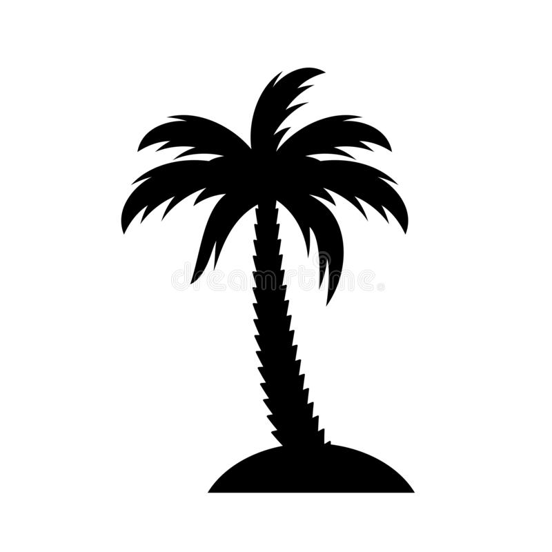 Palm island vector icon. On white background vector illustration