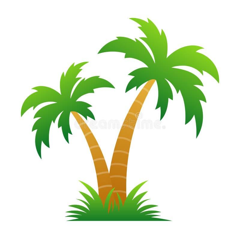 Palm-/kokosträd vektor illustrationer