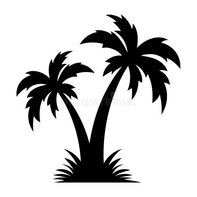 Palm-/kokosträd stock illustrationer