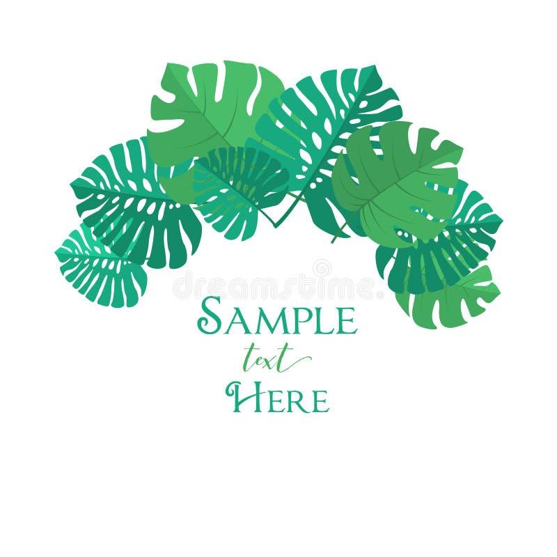 Palm leaf decoration. Vector illustration of palm leaf decoration. Exotic tree palm leaf royalty free illustration