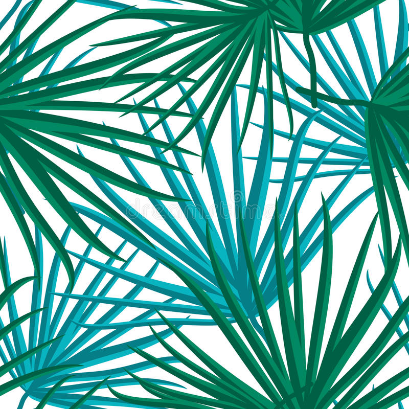 Palm Leaf Vector Seamless Pattern Background Illustration. EPS10 stock illustration