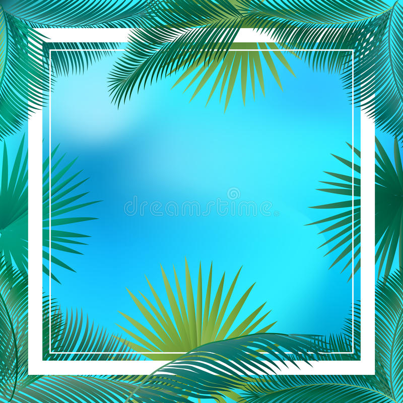 Download Palm leaves stock vector. Illustration of california - 75045480