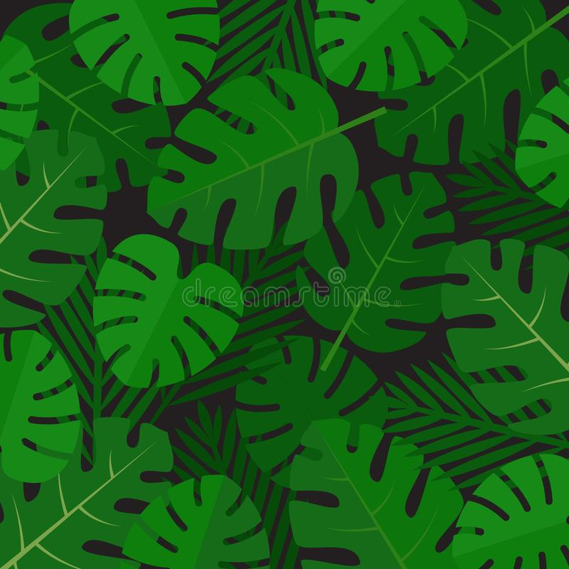 Palm leaves background. Aloha print. Palm tree tropical pattern. vector illustration