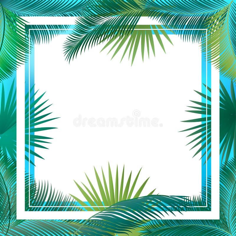 Palm leaves frame Sukkot vector illustration