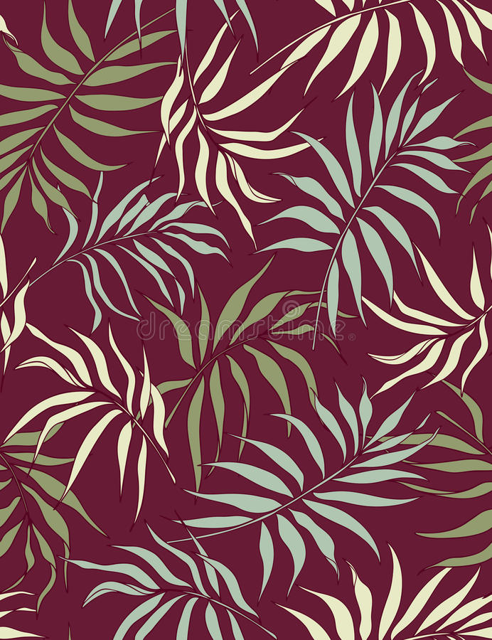 Download Palm Leaves- Seamless Pattern Stock Vector - Illustration: 10879639