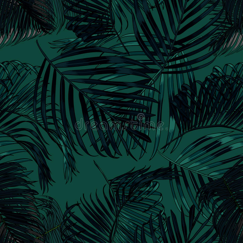Palm Leaves Silhouette On The Dark Green Background Seamless Pattern With Tropical Plants Stock Illustration Illustration Of Beautiful Decoration 94659968 I use them to frame areas and create privacy. dark green background seamless pattern