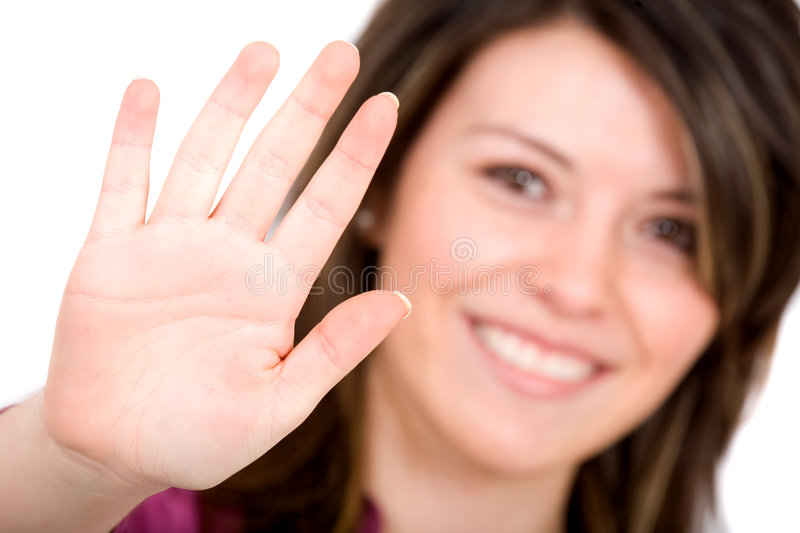 Download Palm of my hand stock image. Image of communication, brunette - 3337257