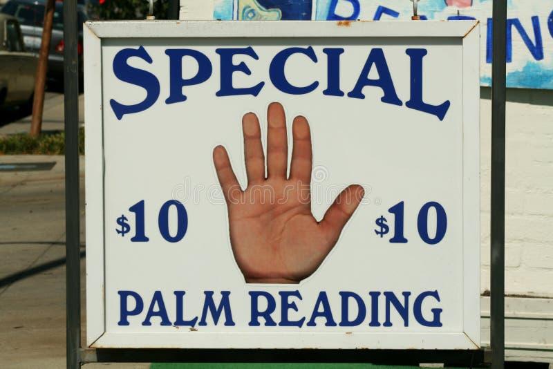 palm odczyt znak obraz stock