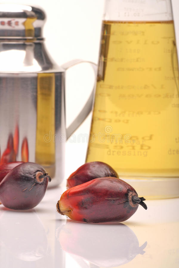 Palm oil fruits and oil stock photos