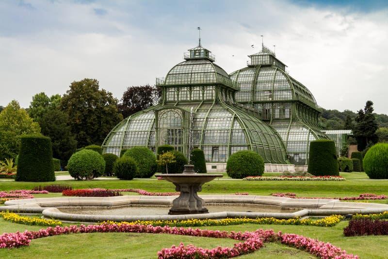 Palm Pavillon at Palace Schoenbrunn, Vienna. Austria royalty free stock photo