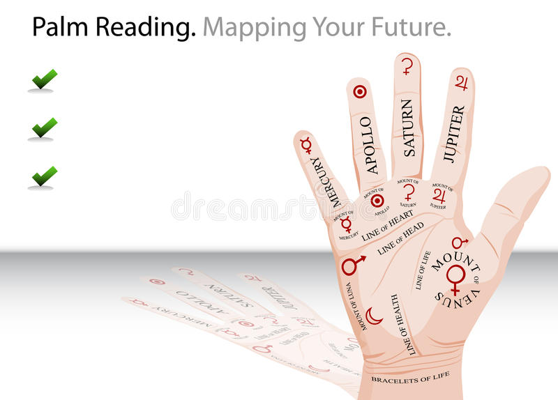 Palm Reading Slide Stock Photography