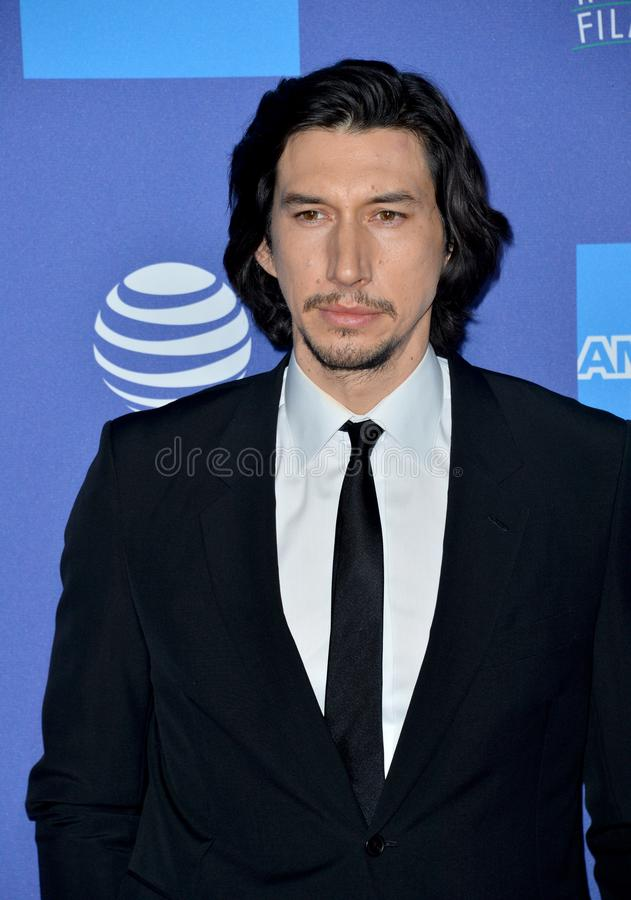 Adam Driver. PALM SPRINGS03, 2020: Adam Driver at the 2020 Palm Springs International Film Festival Film Awards Gala..Picture: Paul Smith/Featureflash royalty free stock photography