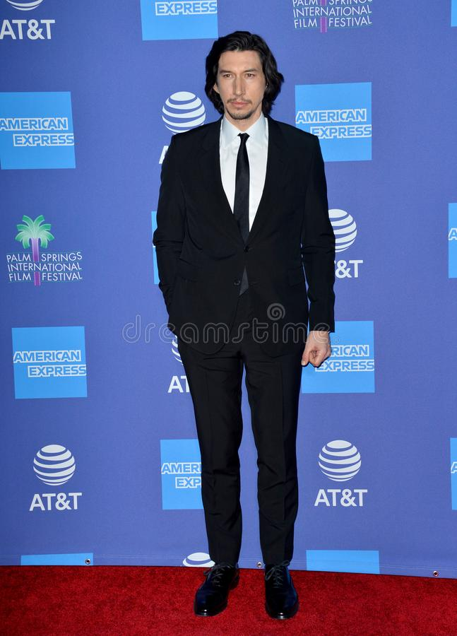Adam Driver. PALM SPRINGS03, 2020: Adam Driver at the 2020 Palm Springs International Film Festival Film Awards Gala..Picture: Paul Smith/Featureflash stock photos