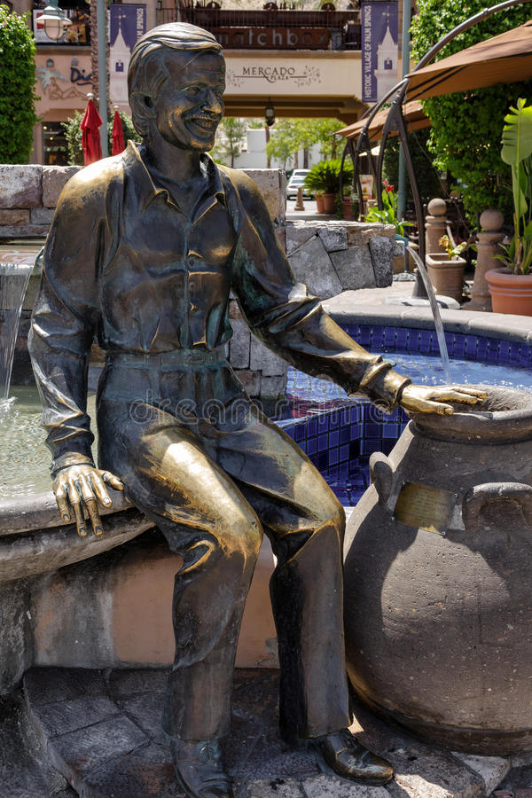 PALM SPRINGS, CALIFORNIA/USA - 29. JULI: Sonny Bono-Statue in PA stockfoto