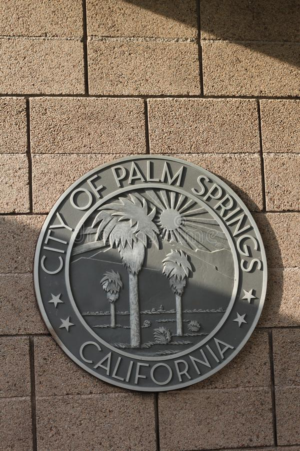 Palm springs city seal 4012 stock images