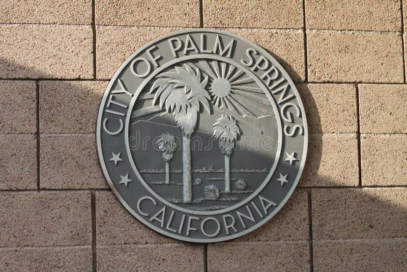 Palm springs city seal 4010 stock image