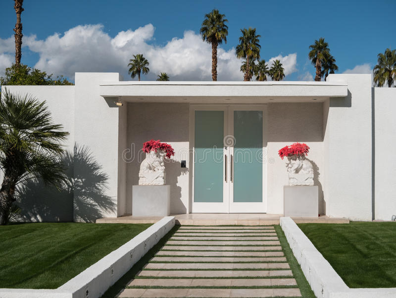 Palm Springs classic architecture stock photos