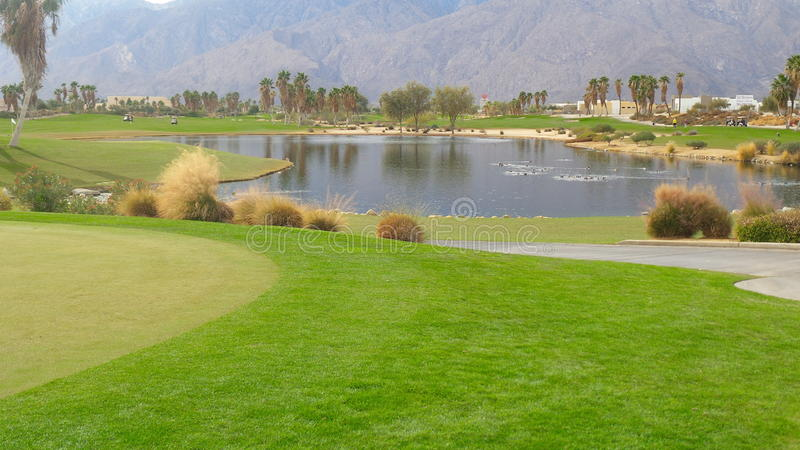 Palm Springs de station de vacances de golf d'Escena images libres de droits