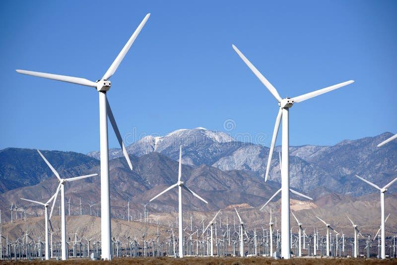 Palm Springs del parco del generatore eolico fotografia stock libera da diritti