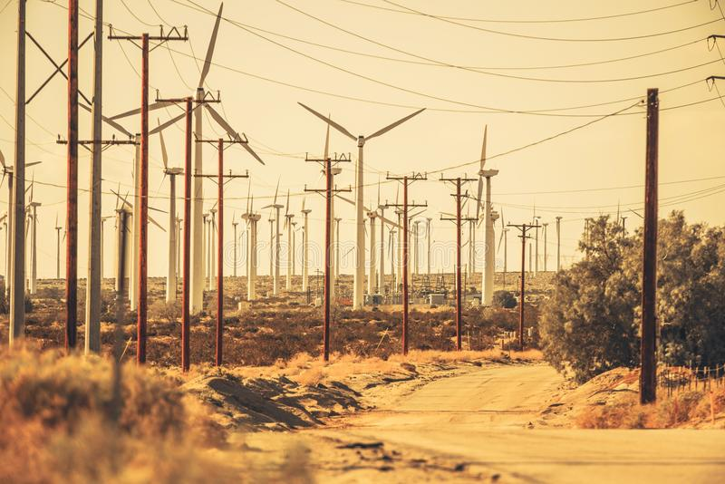 Palm Springs Desert Road stock image