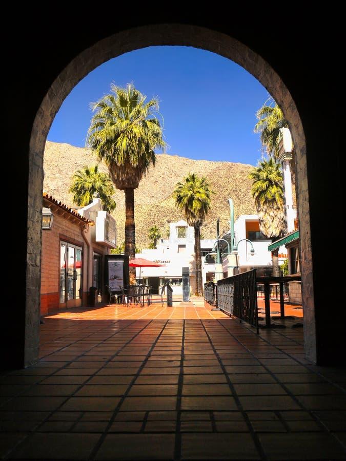 Palm Springs do centro, Califórnia imagens de stock