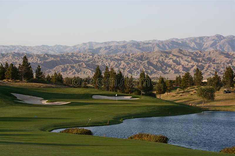 Palm Springs golf course stock photography