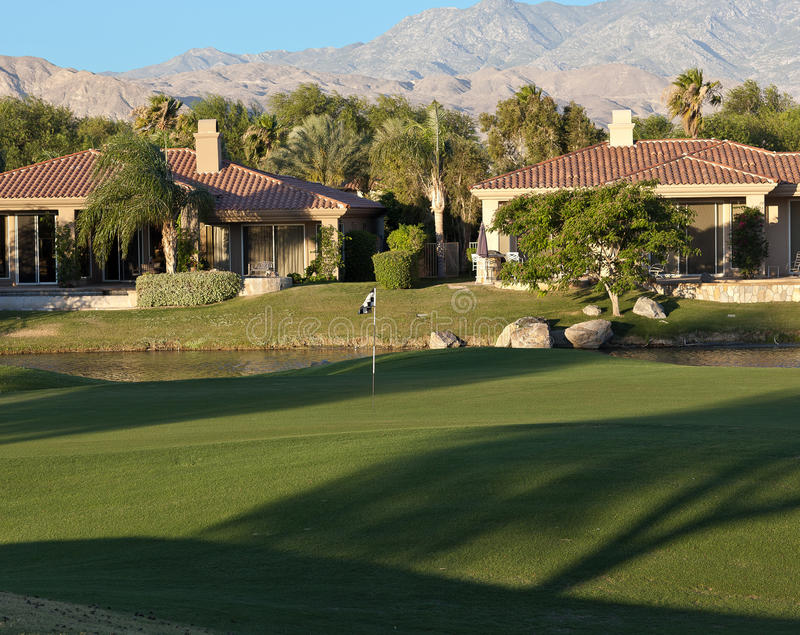 Download Palm Springs Golf Course Homes Stock Photo - Image: 14883948