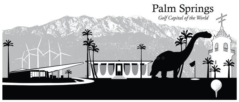 Palm Springs, Kalifornien, USA vektor abbildung