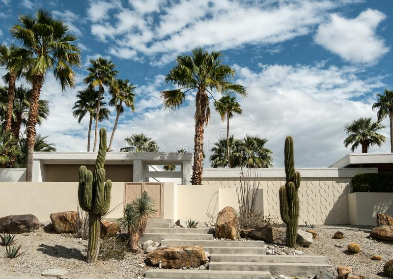 Palm Springs klassieke architectuur stock fotografie