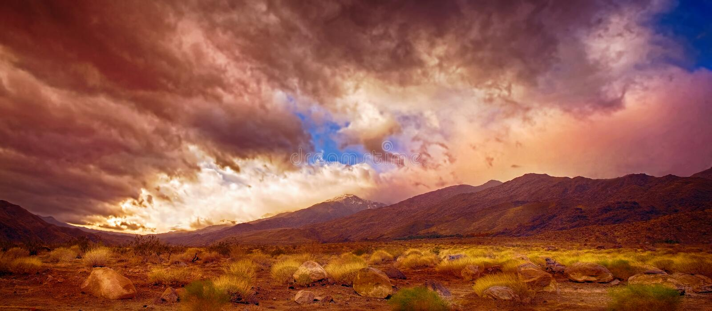 Palm Springs Pano imagenes de archivo