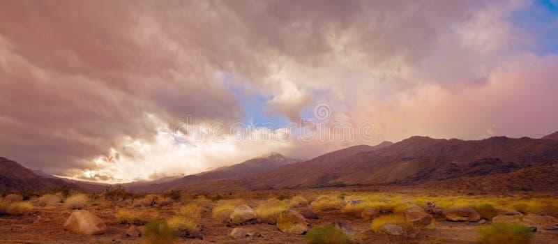 Palm Springs Pano stock foto's