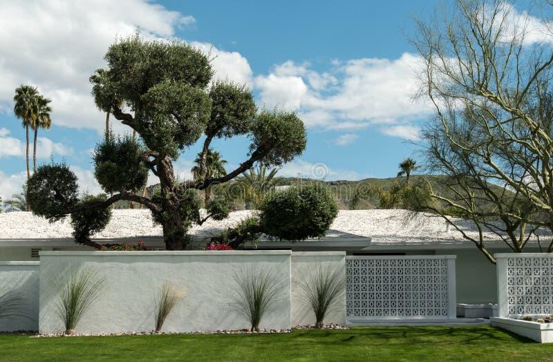 Palm Springs woonarchitectuur royalty-vrije stock afbeelding