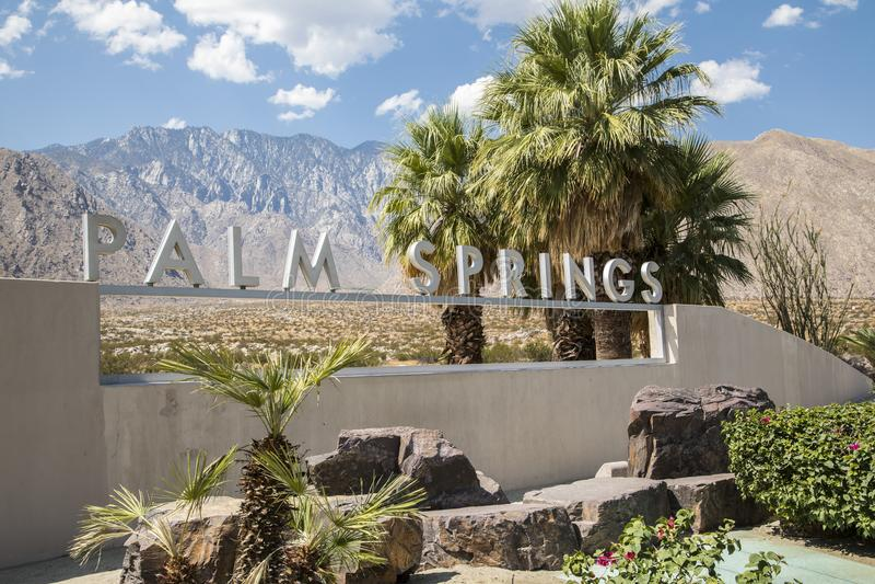 Palm Springsteken stock fotografie