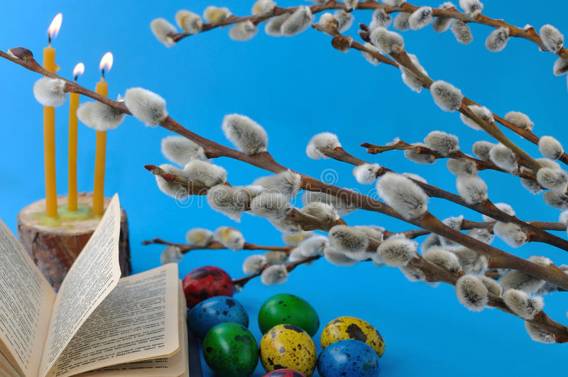 Download Palm Sunday stock photo. Image of candle, light, branch - 24558170