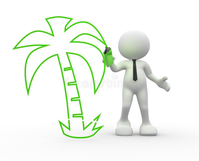 Download Palm tree stock illustration. Illustration of rest, paradise - 26851885