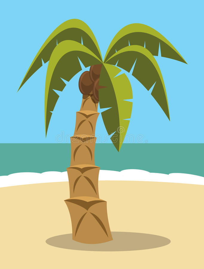 Download Palm tree stock vector. Image of coconut, beach, shade - 32875828