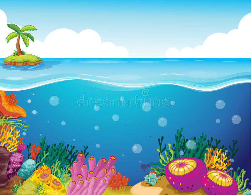 Download Palm tree and coral stock vector. Image of drawing, colorful - 25874400