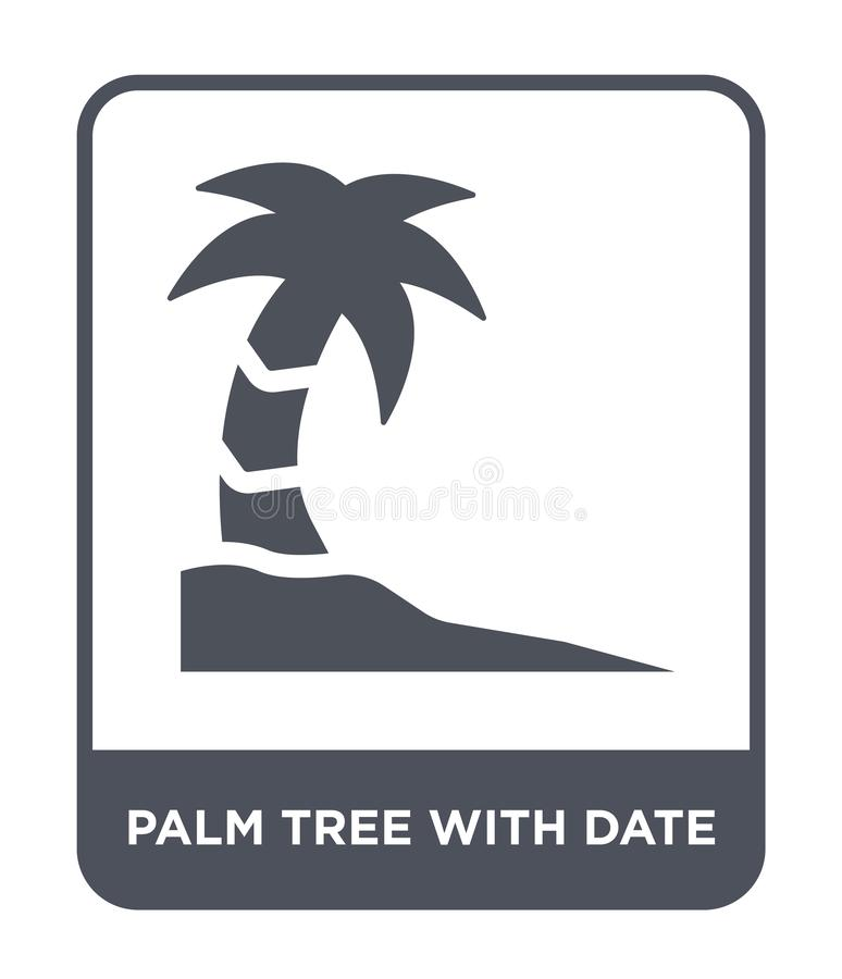 palm tree with date icon in trendy design style. palm tree with date icon isolated on white background. palm tree with date vector royalty free illustration