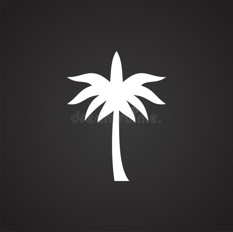 Palm tree icon on background for graphic and web design. Simple illustration. Internet concept symbol for website button vector illustration