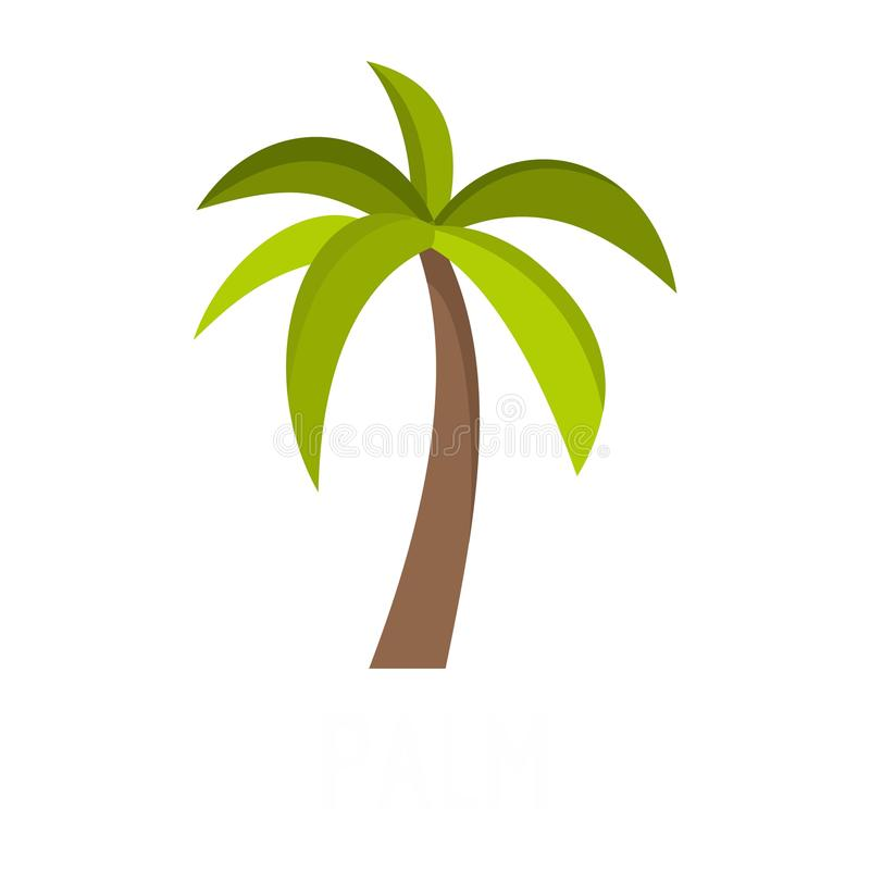 Palm tree icon, flat style. Palm tree icon. Flat illustration of palm tree vector icon isolated on white background royalty free illustration
