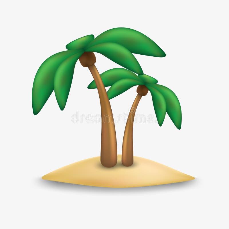 Palm tree icon. Palm trees icon. royalty free stock photo