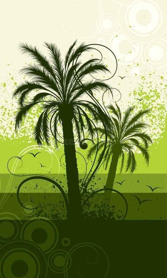 Palm tree illustration vector illustration
