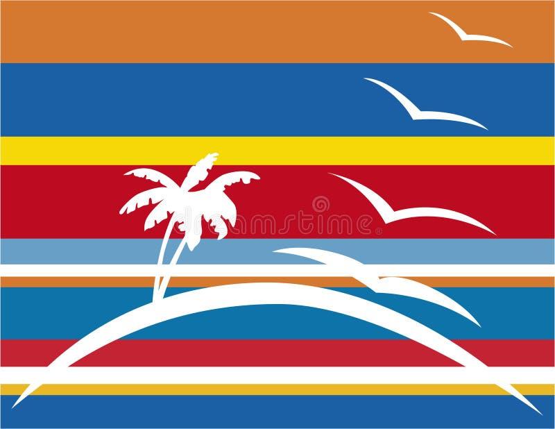 Palm tree island vector illustration