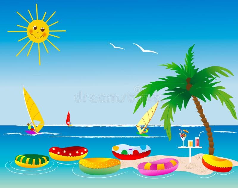 Palm Tree Island royalty free illustration