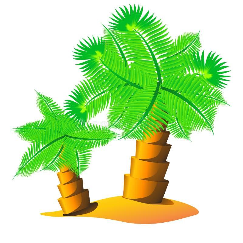 Palm tree island stock vector. Illustration of leaves ...