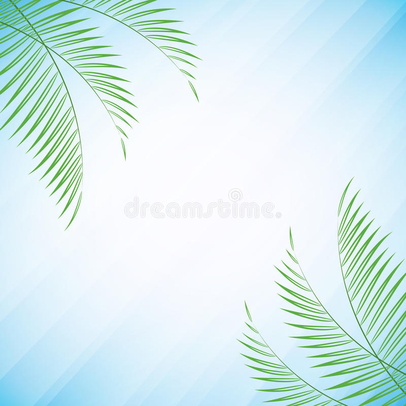 Palm tree leaves royalty free illustration