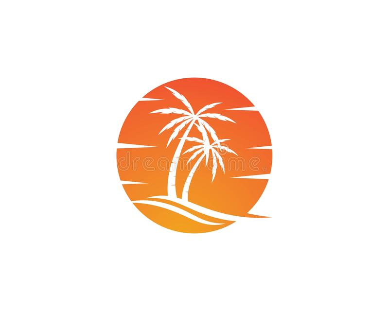 Palm tree logo template vector illustration
